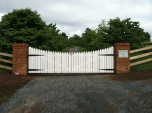 Large farm entrance gate