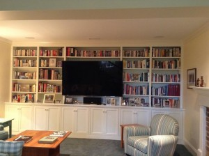 Build in wall bookcase